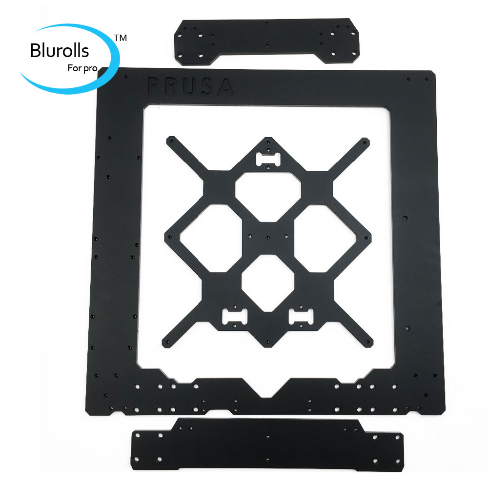 Cloned Original Prusa i3 mk3 aluminum alloy frame, 6mm thickness black 1set aluminium alloy prusa i3 mk3 frame kit with m5 tapped extrusions 6mm thickness