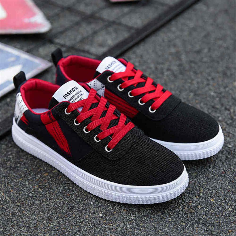 3fa7440b QEJEVI Новые стиль низкий Топ Мужская Тканевая обувь весна и осень мужской  плоские кроссовки белый черный