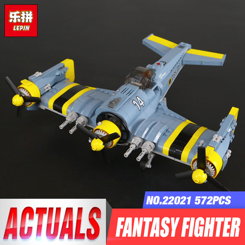 Lepin 22021 919 Pcs Technic The Beautiful Science Fiction Fighting Aircraft Set Building Blocks Bricks Toys for children Gifts the great science fiction