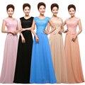 Barato Longo Vestido de Noite 2015 Noiva Chegada de Festa Bordados Rendas vestido Plus Size Mãe Dos Vestidos de Noiva Longo Formais vestido