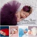 Bonito Da Criança Do Bebê Recém-nascido Meninas Headband + Tutu Skirt Costume Foto Prop Outfits