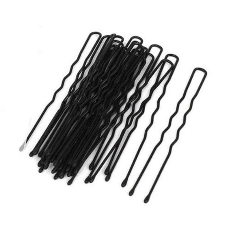 20Pcs/Lot Hair Clips Black Waved U-shaped Hair Pins Barrette Mini Size Salon Grip Clip Metal Bobby Women Styling Tools Hairpins