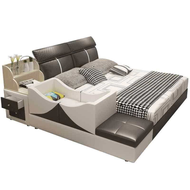 Meuble Maison Yatak Odasi Mobilya Infantil Bett Letto Matrimoniale Leather De Dormitorio bedroom Furniture Mueble Cama Bed