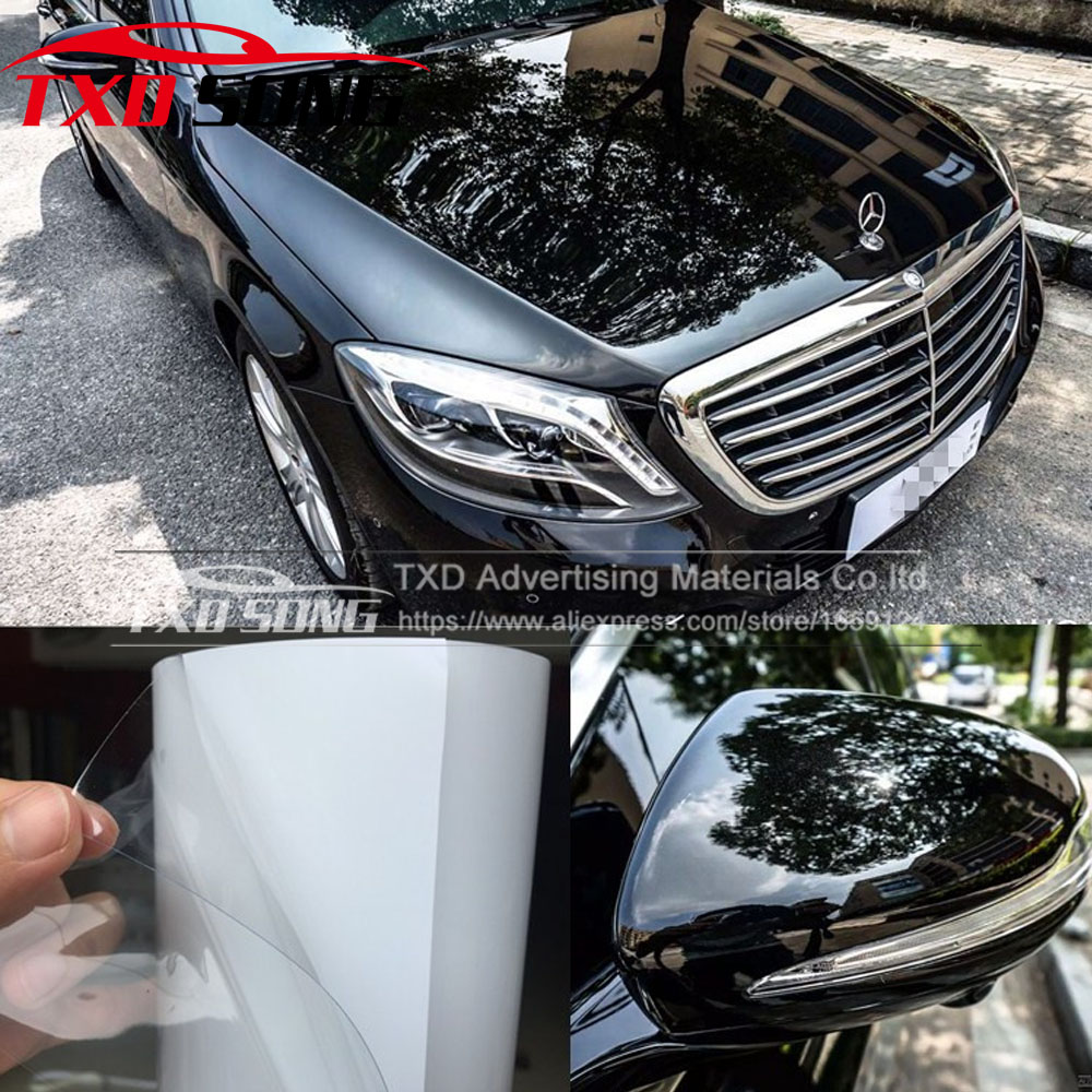 10/20/30/40/50/60CM X 152CM/LOT Rhino Skin Car Bumper Hood Paint Protection Film styling Vinyl Clear Transparence Film paint protection film roll paint car adhesive vinyl rolls self healing rino high transparency and clearness 1 52m 15m