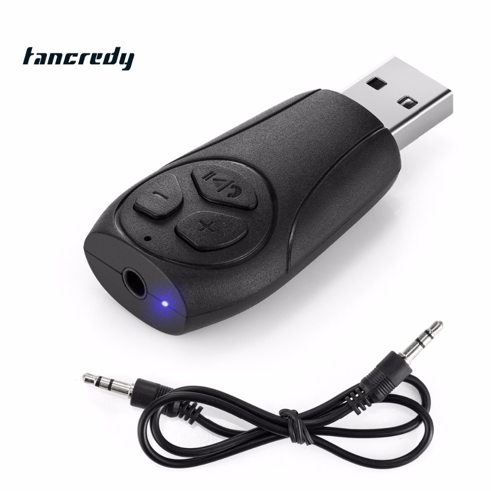 Wireless Car Bluetooth Audio Receiver With MIC Car USB Bluetooth Aux Audio Bluetooth Car Kit