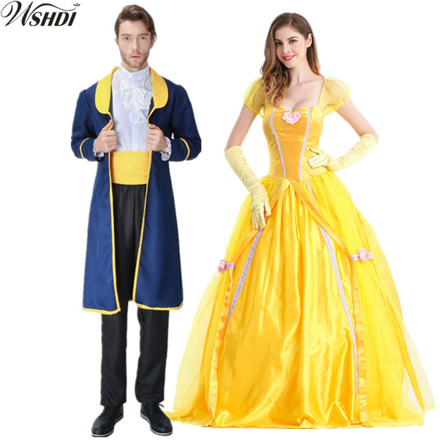 S-XXL Hot Sale Movie Beauty And The Beast Costume Adults Women Sassy Belle Princess  sc 1 th 225 & S XXL Hot Sale Movie Beauty And The Beast Costume Adults Women Sassy ...