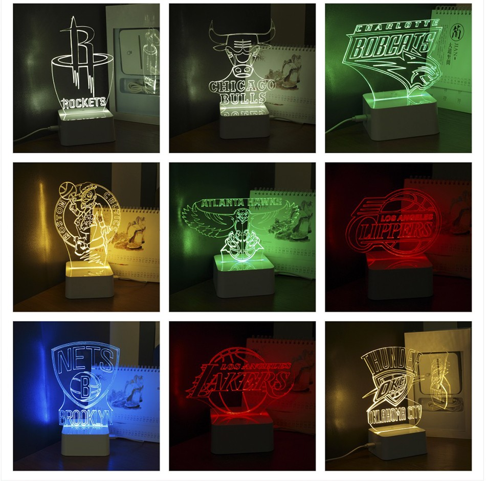 USB Novelty 3D LED Night Lights for Basketball Team Touch Dimmable Table Desk Lamp as Home Decor (10)