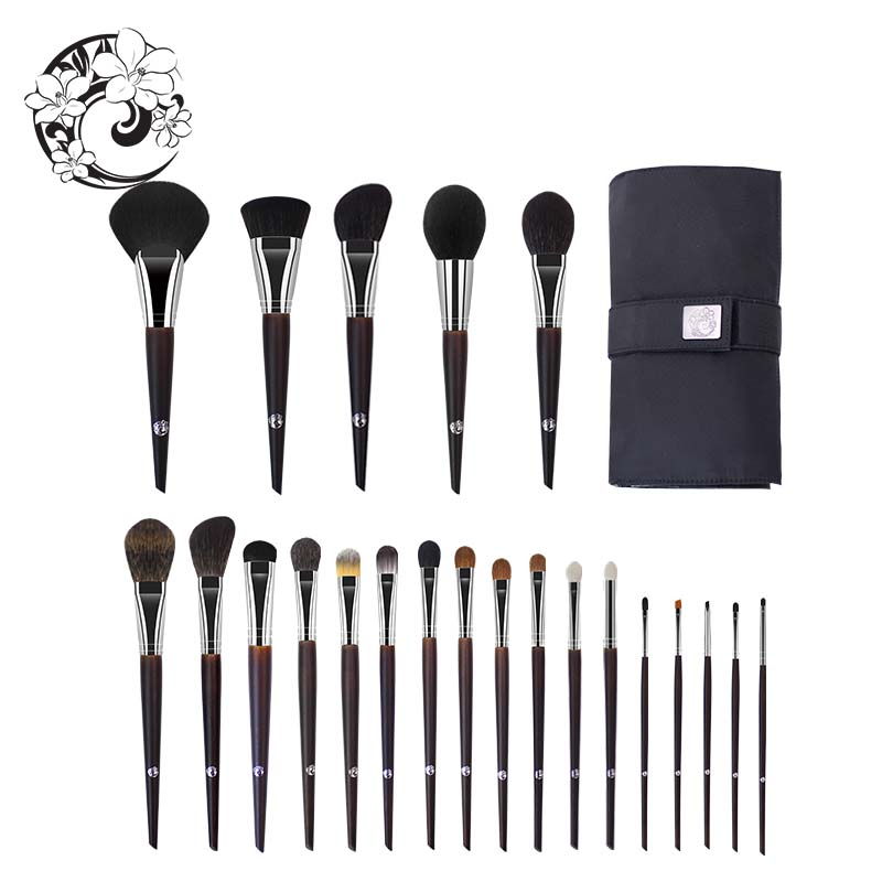 ENERGY Brand Professional 22pcs Makeup Goat Hair Brush Set Make Up Brushes Bag Brochas Maquillaje Pinceaux