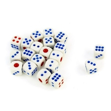 1pc Hot Sale White Entertainment Guessing Game Cubical Red Blue Dot Dices