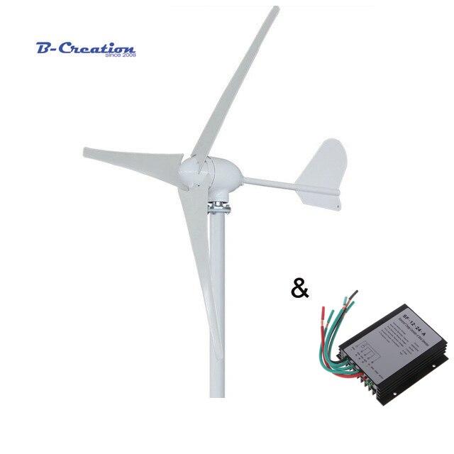 500W gerador de turbina eólica horizontal 12 V/24 V/48 V 3/5 lâminas de uso doméstico moinho + 600w controlador do carregador do vento à prova d' água