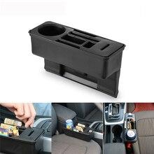 Assento de carro fenda organizador armazenamento console bolso lateral do assento auto lacuna organizador bolso com caixa moeda e suporte copo água