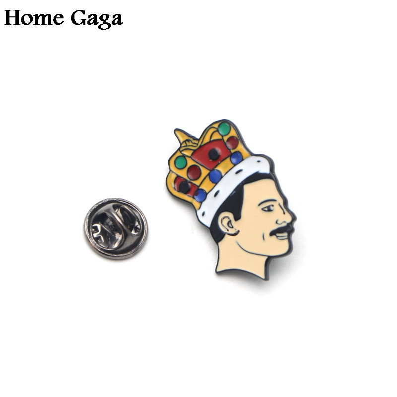 20pcs lot Homegaga Freddie Mercury Singer Pride Brooches Pins Badges medal Jewelry insignia For shirt backpack