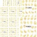 1 компл. 11 дизайн Щепка/Золото Перо Павлина дизайн ногтей Аксессуары Nail Art Наклейка Наклейка Наклейки На Ногти Продукта Y082