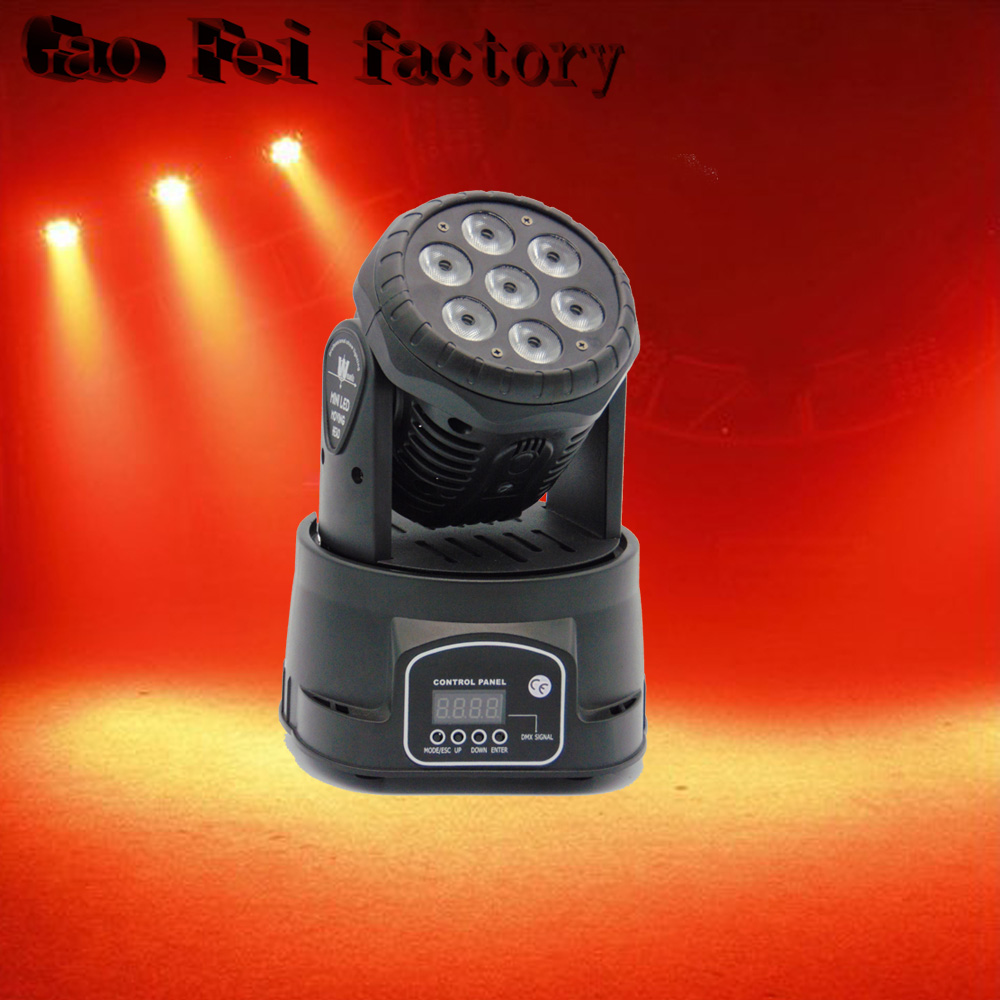 Factory arrive Dj lighting full color rgbw moving head stage light 7x12W led DMX Wash dj stage light disco party light 6pcs lot white color 132w sharpy osram 2r beam moving head dj lighting dmx 512 stage light for party