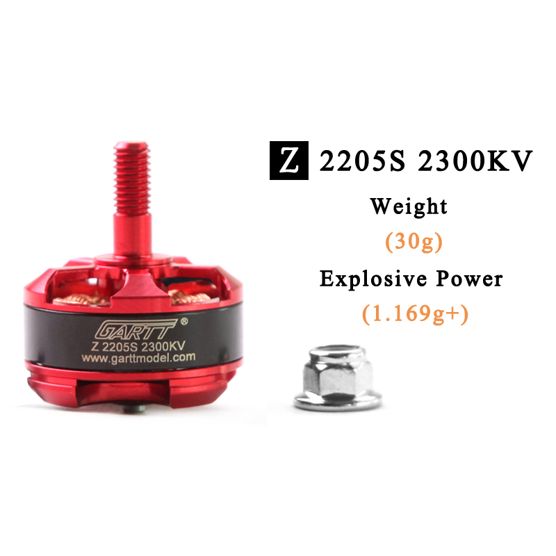Newest GARTT Z 2205S 2300KV CW/CCW Brushless Racing Motor For FPV RC Drones QAV210 250 Mini Quadcopter drone with camera rc plane qav 250 carbon frame f3 flight controller emax rs2205 2300kv motor fiber mini quadcopter
