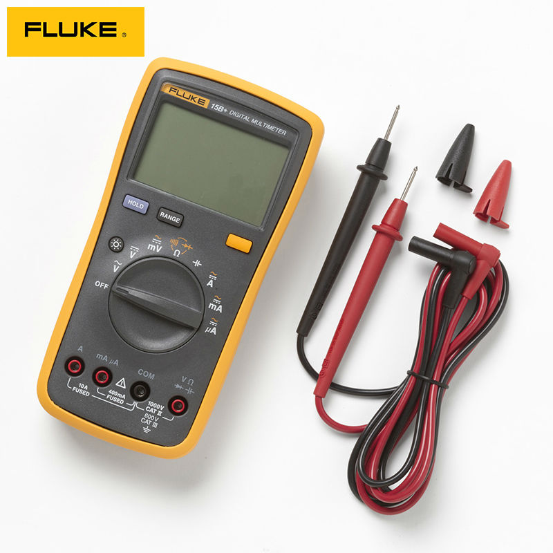 FLUKE 15B+ 4000 Counts AC/DC Voltage,Current,Capacitance,Ohm Auto/Manual Range Digital Multimeter Meter