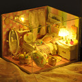 Doll House furniture the Toy house for dolls 3D Puzzle Model dollhouse miniature light For Children Educational Toys Gift 2015