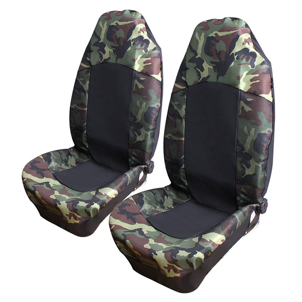 Camouflage Car Seat Cover Universal Fit Most High Quality 2pcs Sea