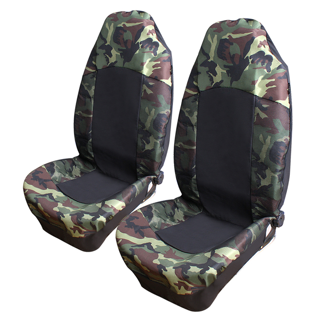 Camouflage Car Seat Cover Universal Fit Most High Quality 2pcs Sea Interior Accessories Auto Care
