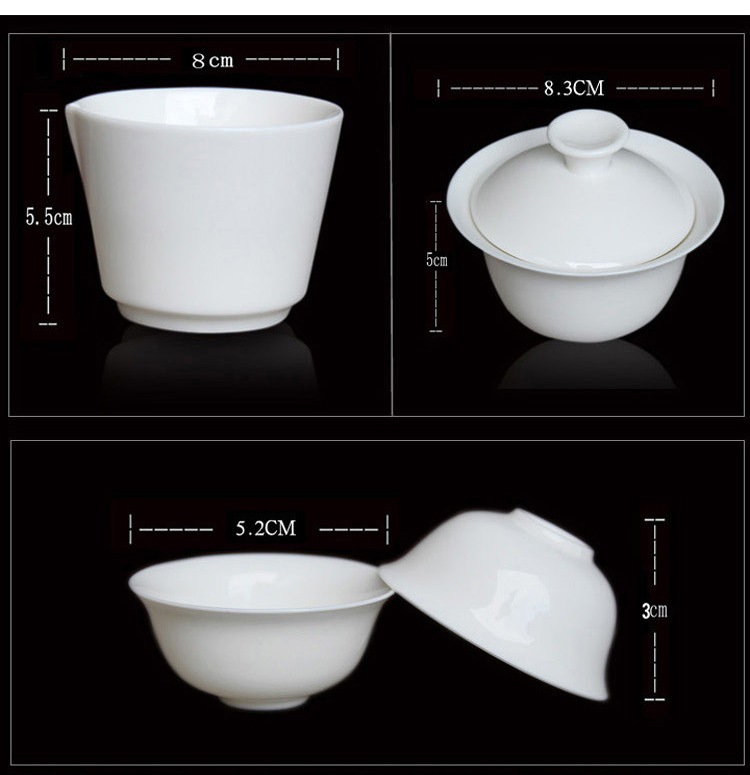 11pcs Set Chinese Portable Kung Fu Tea Set,Porcelain Service Gaiwan Tea Cups Mug of Tea Ceremony Teapot,Ceramic Travel Teacup