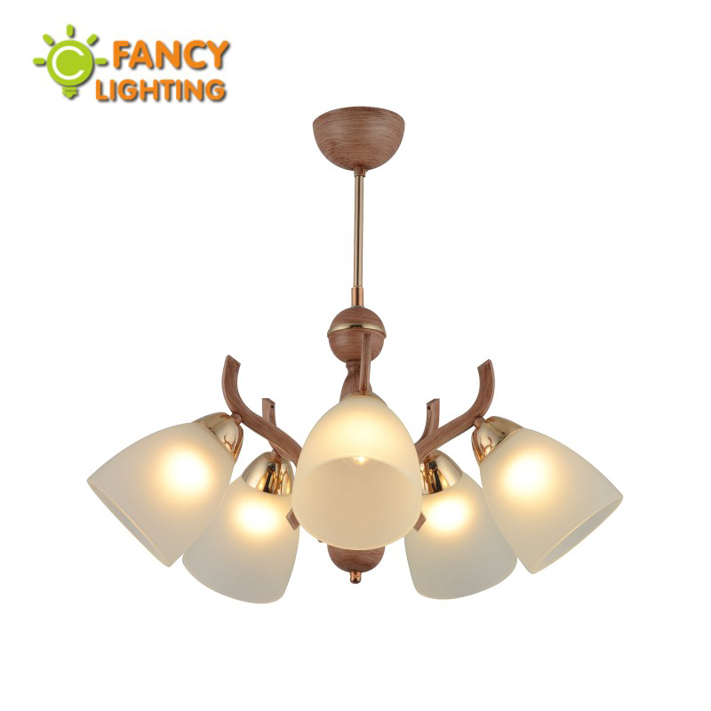 Modern chandelier ceiling 3/5 heads E27 frosted glass led chandelier for living room/bedroom/kitchen loft decor nordic fixtures 6 e27 heads nordic post modern designer originality personality art living bed room cafe fashion led chandelier home decor light