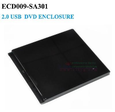 Óptico USB 2.0 Caso gabinete dvd externo 12.7mm SATA Caddy Unidade Óptica Para laptop Sem Motorista