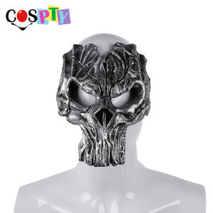 Cospty Day of The Dead Carnaval Dia De Los Muertos Overlord Halloween Horror Scary Pu Foam Burning Man Death Knight Skull Mask