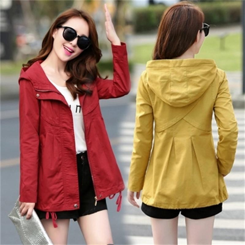 Women Jackets Fashion short jacket autumn New Korean short windbreaker fashion hooded casual slim cotton women