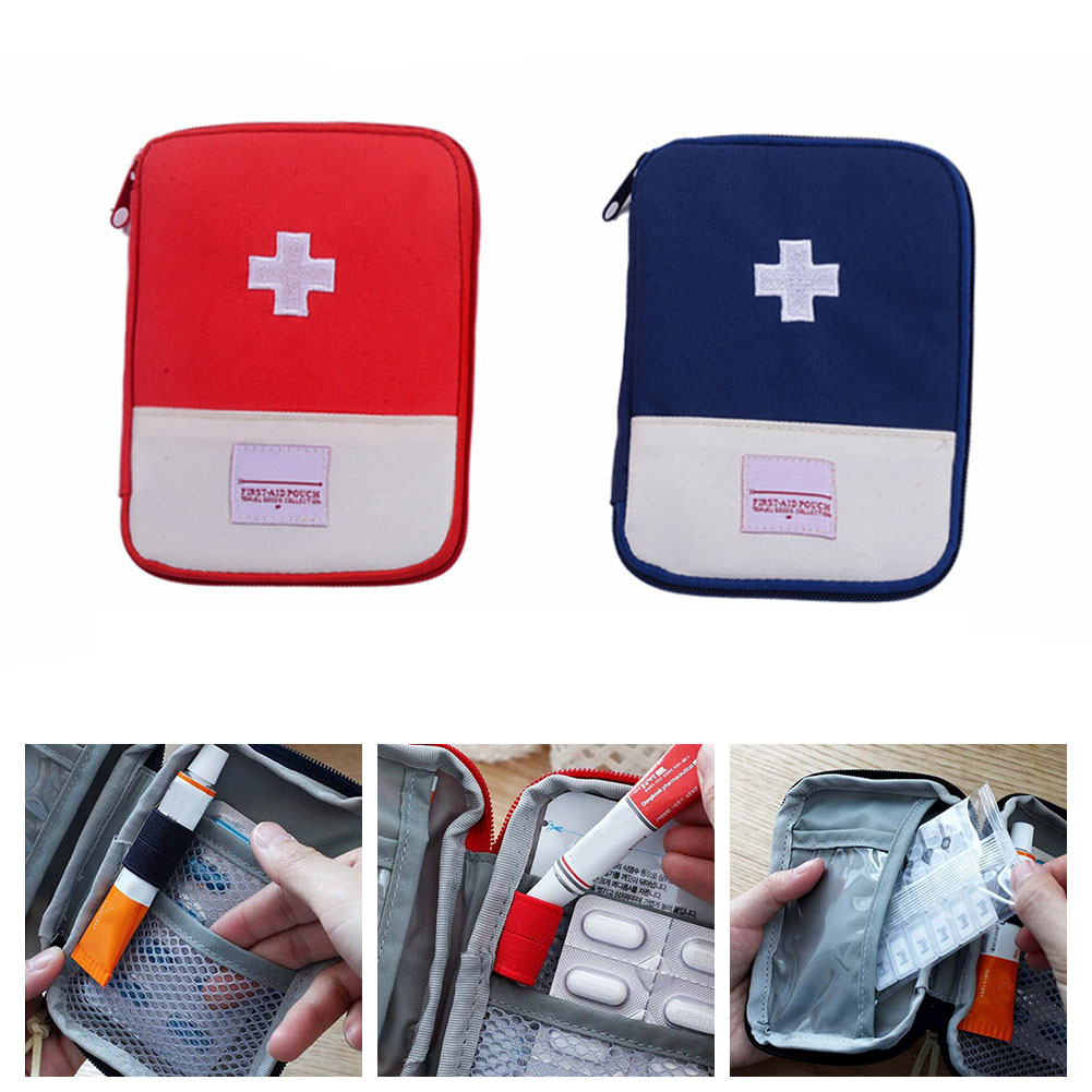 Portable Outdoor First Aid Kit Bag Pouch Travel Medicine Package Emergency Kit Bags Small Medicine Divider Storage Organizer