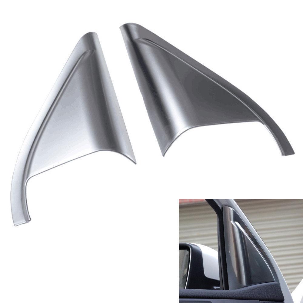 Car Front Door Tweeter Audio Speaker Horn Sound Cover Trim ABS Frame Decoration For Peugeot 408 2014 Car Styling