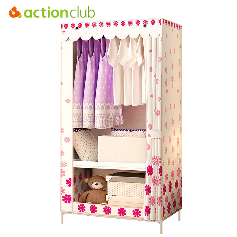 Attrayant Actionclub Non Woven Cloth Wardrobe Folding Closet Reinforcement Large  Wardrobe Flower Pattern Cloth Cabinet Home Furniture