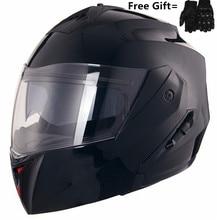 Matte Black Motorcycle Helmet Full Face Helmet Touring Motorbike Modular Flip Up Helmet Moto Casco with Inner Smoked Lens triple 8 brainsaver gun matte helmet