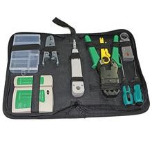Сетевой набор инструментов 11 в 1 для установки и ремонта сети с обжимным инструментом, тест кабеля, зачистки кабеля, заглушка, отвертка
