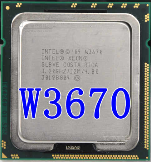 Intel Xeon W3670 W3670 Prosesor CPU 3.2GHz LGA1366 12MB L3 Cache/6-Core/Server CPU
