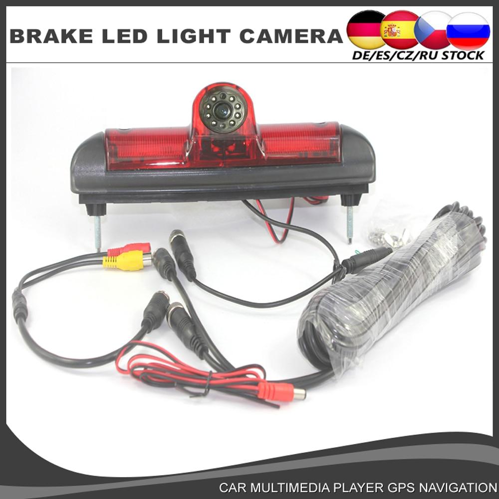 Car Brake Light Rear View Reverse Camera For Citroen JUMPER II III 2 3/Fiat DUCATO X250 / Peugeot BOXER III Infrared Light CCD