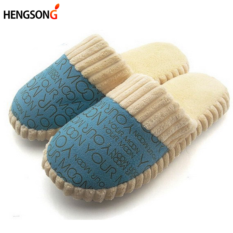 hengsong Winter Women Men Warm Home Slippers Indoor Shoes