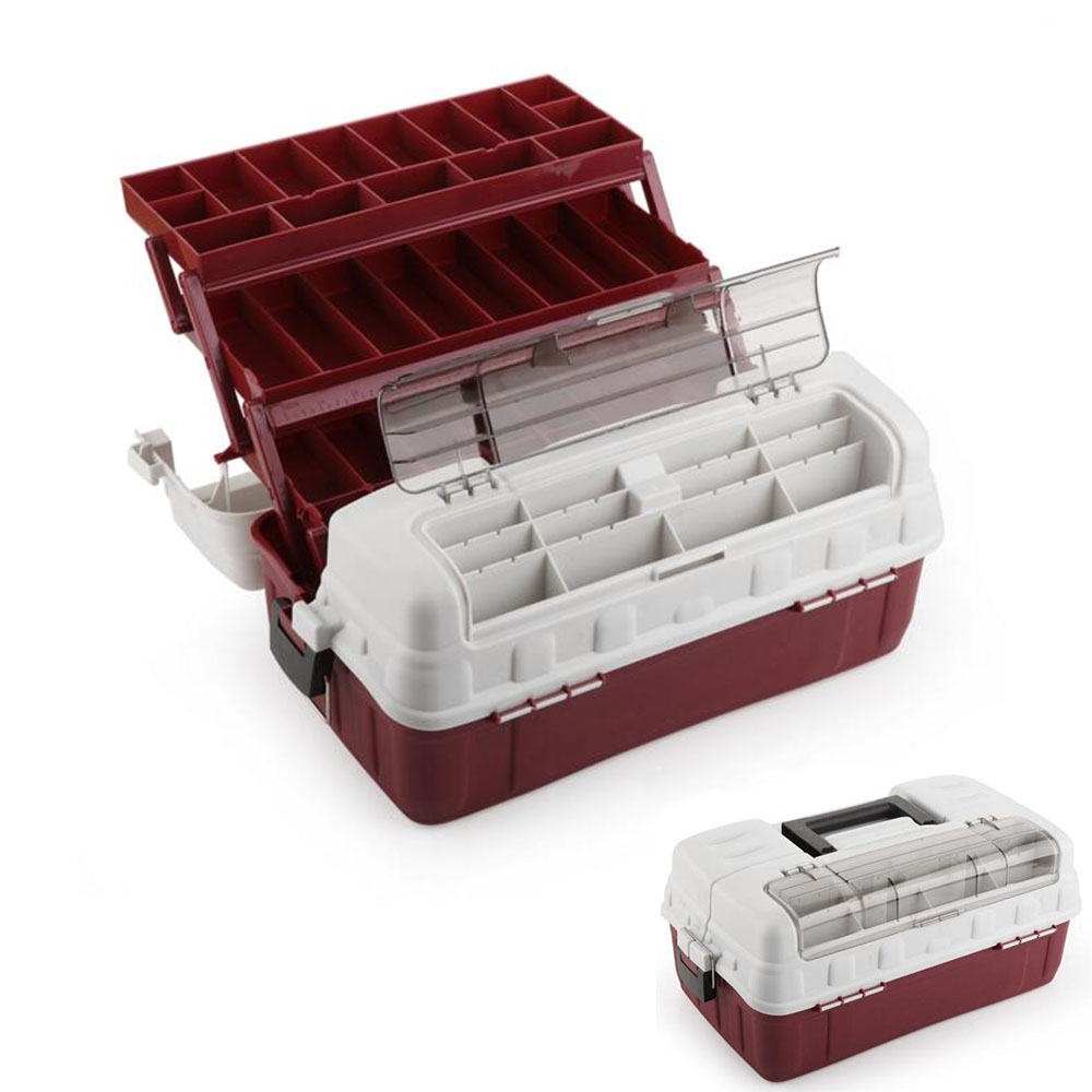 1PC Large 3-Tray Portable Arts Crafts Organizer Case Utility Tool Storage Box Big Fishing Tackle Box tool case