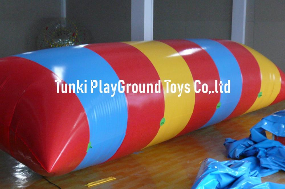 Rainbow Color Inflatable Aqua Catapult , Water Blob , Inflatable Human Water Catapult