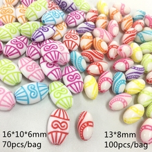Meideheng New plastic acrylic Flat ellipse Olive beads for Jewelry making Childrens Necklace bracelet accessories Bohemia style