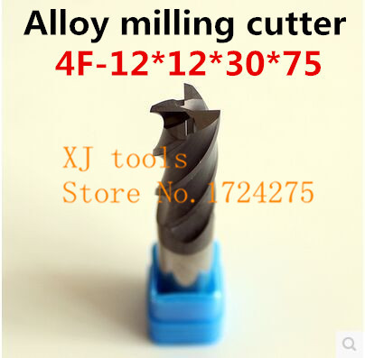 New 2pcs Of 4F 12 12 30 75mm Micro Solid Carbide End Mill CNC Milling Cutter