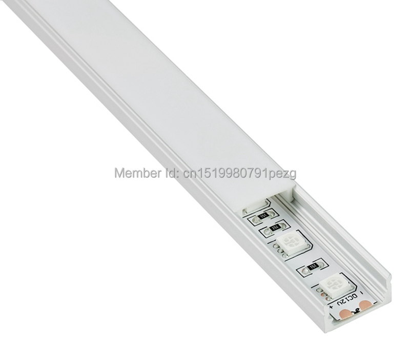 10sets/lot U Type Extruded Led Aluminum Profile Anodized Aluminium Led Profile Led Aluminum Channel Profile For Recessed Wall Neither Too Hard Nor Too Soft Lights & Lighting