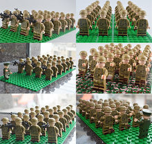 26PCS Military Team Police Armed Assault Army soldiers legoingly Weapons Guns Figure WW2 World War Blocks Gift Baby Toys(China)