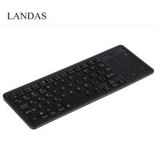 все цены на Landas Wireless Touchpad Keyboard Bluetooth For iPad Cover Stand Battery Charging Backlit Keyboard Touchpad For Mac Smartphone онлайн