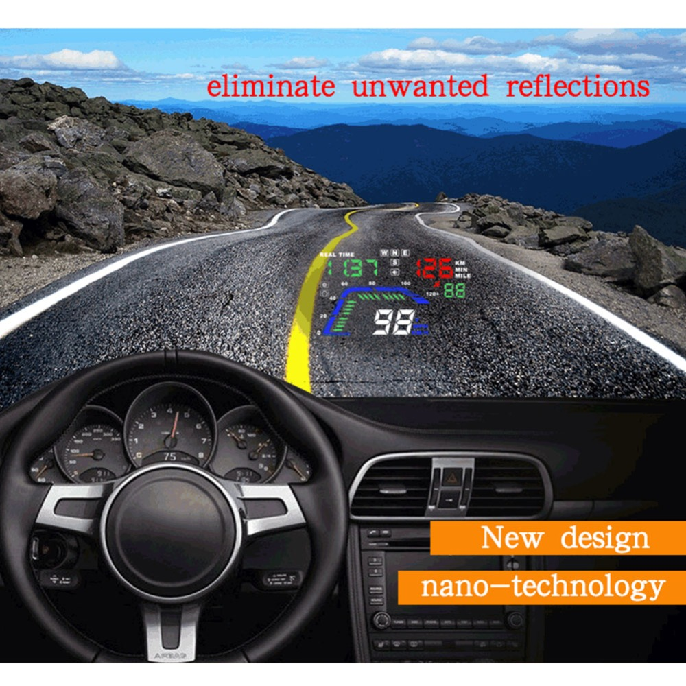 Universal Car HUD GPS Speedometer Head Up Display Digital Dan Speed Alert Windshield Car Navigation