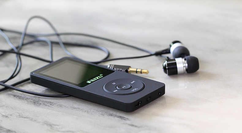 RUIZU X02 MP3 плеер 4G г/8 г/16 г портативный Mp3 может играть 80 часов с fm-радио электронная книга, часы, диктофон Бесплатные оригинальные наушники