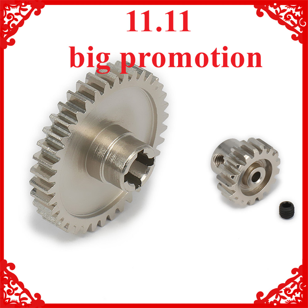 17T Motor Gear + Main Gear For 1/18 Wltoys A959 A969 A979 K929 Model RC Car Upgraded Parts Electric RC Truck Desert Off-road hot sale rc 1 10th 11184 hsp 1 10 gear differential main gear 64t 11181 motor gear 21t teeth car truck