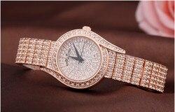 Marka MELISSA eleganckie kobiety pełne kryształy sukienka zegarki japonia kwarcowy jakości 316L zegarek na bransolecie analogowy Reloj Montre femme w Zegarki damskie od Zegarki na