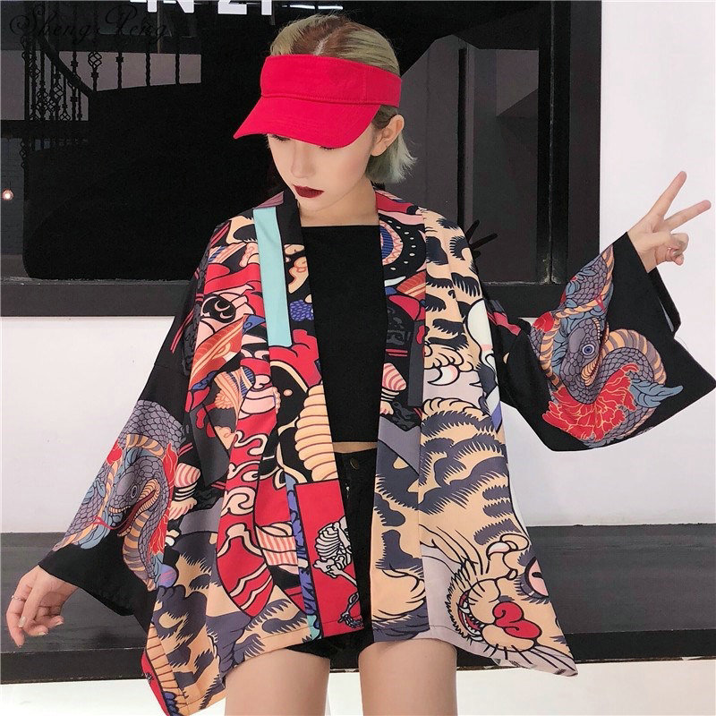 Traditional japanese kimonos cardigan kimono women 2018 summer japanese kimono yukata japanese kimono traditional V1284 in Asia Pacific Islands Clothing from Novelty Special Use