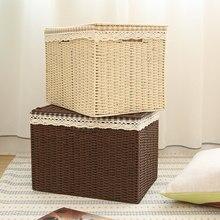 Су соломы связанный коробку для хранения отделочных ящик для хранения покрыты большие одежда ящик для хранения мусора хранения