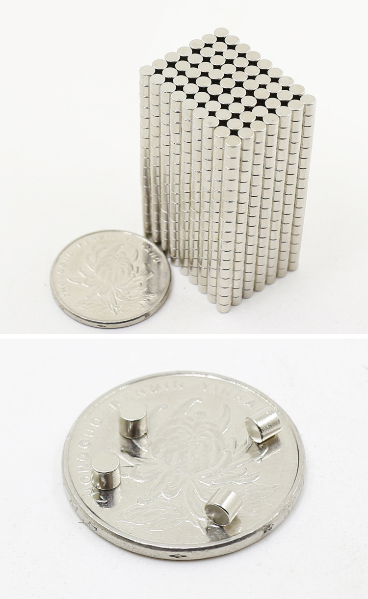 60pcs lot Super Strong Rare Earth mini 3mm x 3mm Permanet Magnet Round Neodymium Magnet N52 N38 3 3MM surface plate nickel in Magnetic Materials from Home Improvement